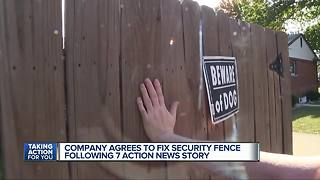 Company agrees to fix security fence following 7 Action News story - Video
