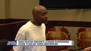 Man who had driver's license suspended more than 60 times sentenced - Video