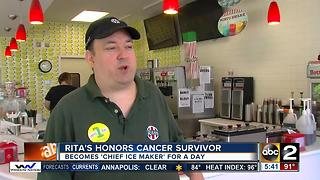 Rita's honors cancer survivor - Video