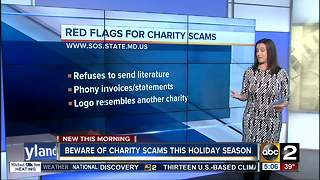 Beware of charity scams this holiday season - Video