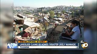 Landslide claims 89 homes in Tijuana - Video