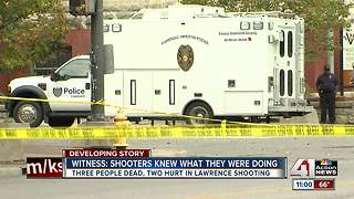 Witnesses describe scene after shooting in Lawrence - Video
