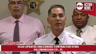 Hillsborough Co. Sheriff's Office cracks down on unlicensed contractors following Hurricane Irma - Video