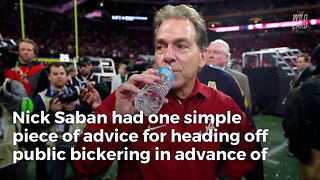 Nick Saban Warns QB's - Don't Bring Attention To Yourself - Video