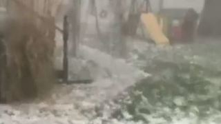 Hail Pounds Ohio Town as Severe Storms Sweep State - Video