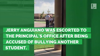 Teen Picked Up by School Security & Brought to Office. Then Principal Brings Him Inside - Video