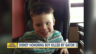 Disney honoring boy killed by gator - Video