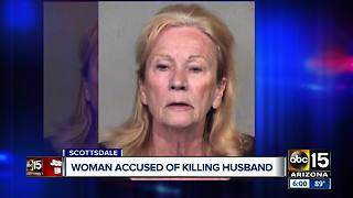 Woman suspected in murder of 94-year-old husband - Video
