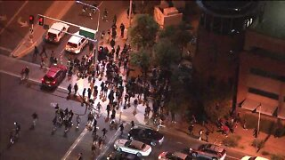 Protesters gather at Scottsdale Fashion Square