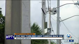 Boynton Beach may turn red light cameras back on - Video