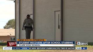 Students react to stabbing at Clark High School - Video