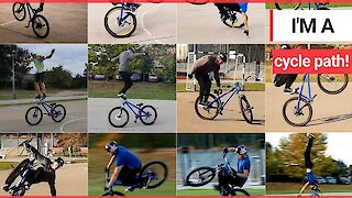 This incredible video shows a jaw dropping selection of bike stunts!