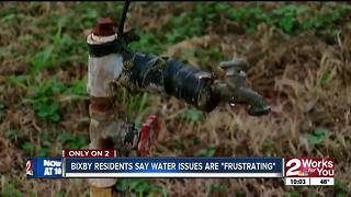 Bixby residents say they go without water for days at a time, and demand change - Video