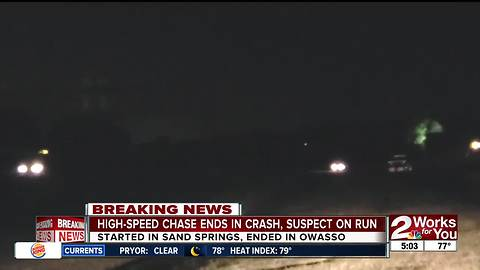 High-speed chase spans three cities, suspect on the run