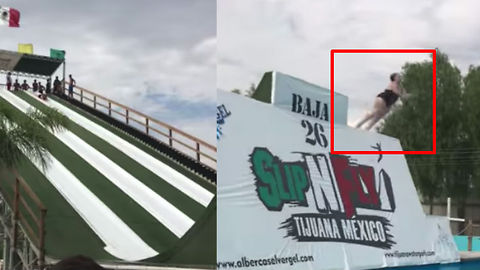 Watch These People Skyrocket Off Insane Water Slide