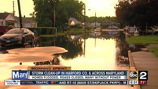 Clean-up begins after storm hits Harford County - Video