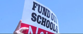 Teachers rally, lawmakers to fund CCSD schools now