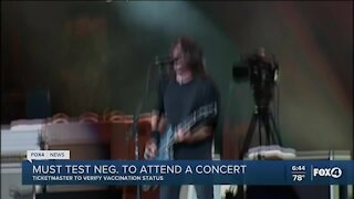 Ticketmaster to require negative COVID test before attending events