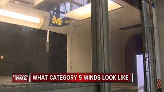 University of Michigan's wind tunnel shows the power of hurricane force winds - Video