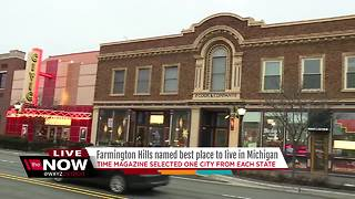 Time magazine has named Farmington Hills as the best place to live in Michigan - Video