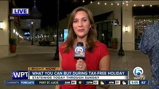 What you can buy during tax-free holiday - Video