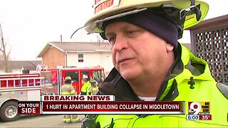 One person hurt in Middletown apartment building collapse