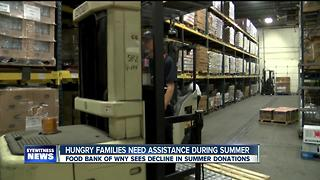 Food Bank of WNY struggling to feed families as summer donations dwindle - Video