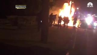 Video shows NJ cops kicking burning man