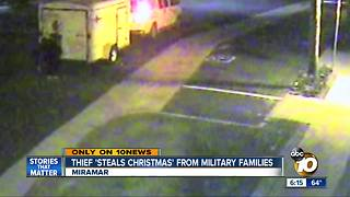 Thief 'steals Christmas' from San Diego military families - Video
