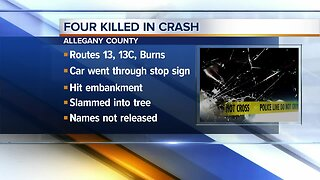 Four killed and one injured in Allegany County crash