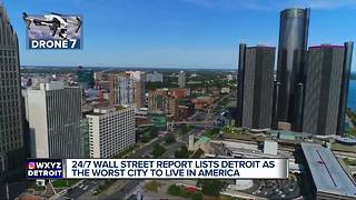 Detroit named worst city to live in, study finds - Video