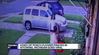 Flower pot thieves caught after Facebook post goes viral - Video