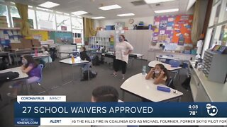 27 school waivers approved