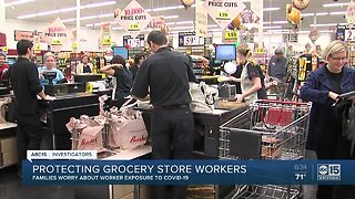 Protecting grocery store workers