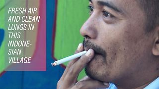 Going down in smoke: Indonesia's tobacco-free village - Video