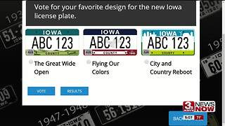 Vote on 3 new Iowa license plate designs - Video