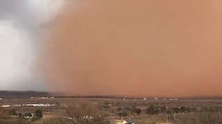 Dust Storm Hits Broken Hill, New South Wales