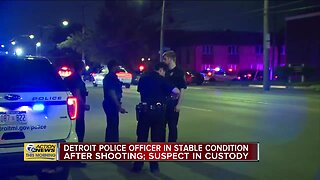 Detroit Police Officer Shot