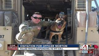 Community members, fellow officers gather to remember Officer Morton - Video