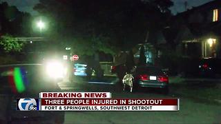 Three people injured in shootout in southwest Detroit - Video