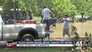 Flood waters recede to reveal damage left behind