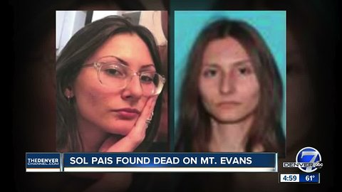 Sol Pais found dead by self-inflicted gunshot wound near base of Mt. Evans, ending massive manhunt