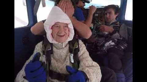 Incredible 102-Year-Old Grandma Skydives to Raise Funds For Motor Neuron Disease