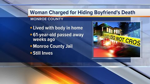 Metro Detroit woman charged for hiding boyfriend's death