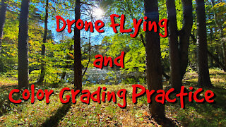 Drone Flying and Color Grading Practice Footage