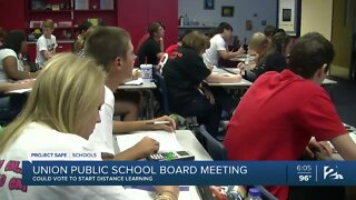 Union Public School Board could vote to start distance learning