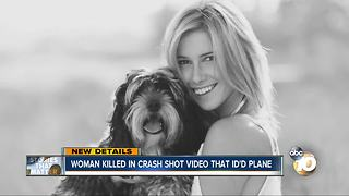 Woman killed in crash shot video that identified plane