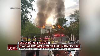 75-100 people without a home after lightning strike causes apartment fire in Riverview