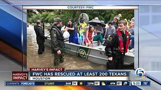 FWC officers rescue more than 200 Texans impacted by Hurricane Harvey - Video