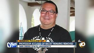 SDSU professor accused of racist remarks